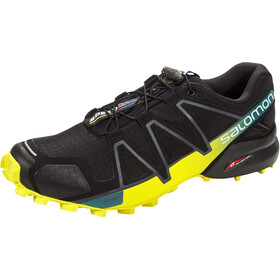 Salomon Speedcross 4 Schoenen Heren, black/sulphur spring